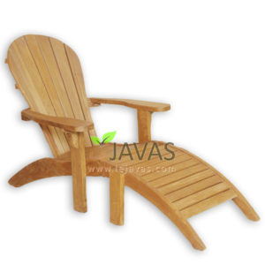 Teak Patio Adirondack With Foot Rest MOSM 004