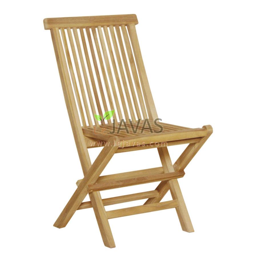 Teak Outdoor Folding Chair Natural