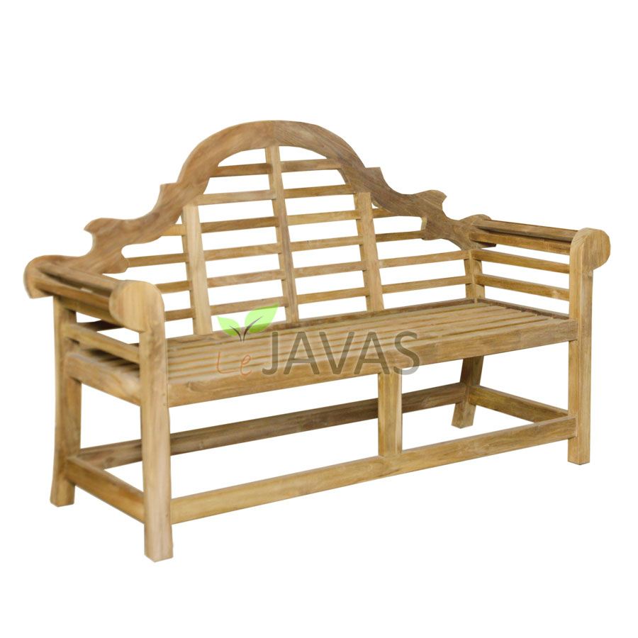 Teak garden marlborough bench 2 seater le javas for Outdoor furniture 2 seater
