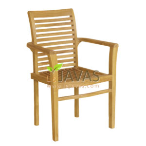 Teak Garden Bronte Stacking Arm Chair MOXC 010 A