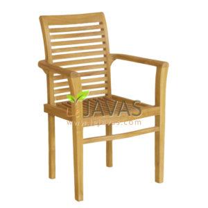 Teak Garden Bronte Stacking Arm Chair MOXC 010 A