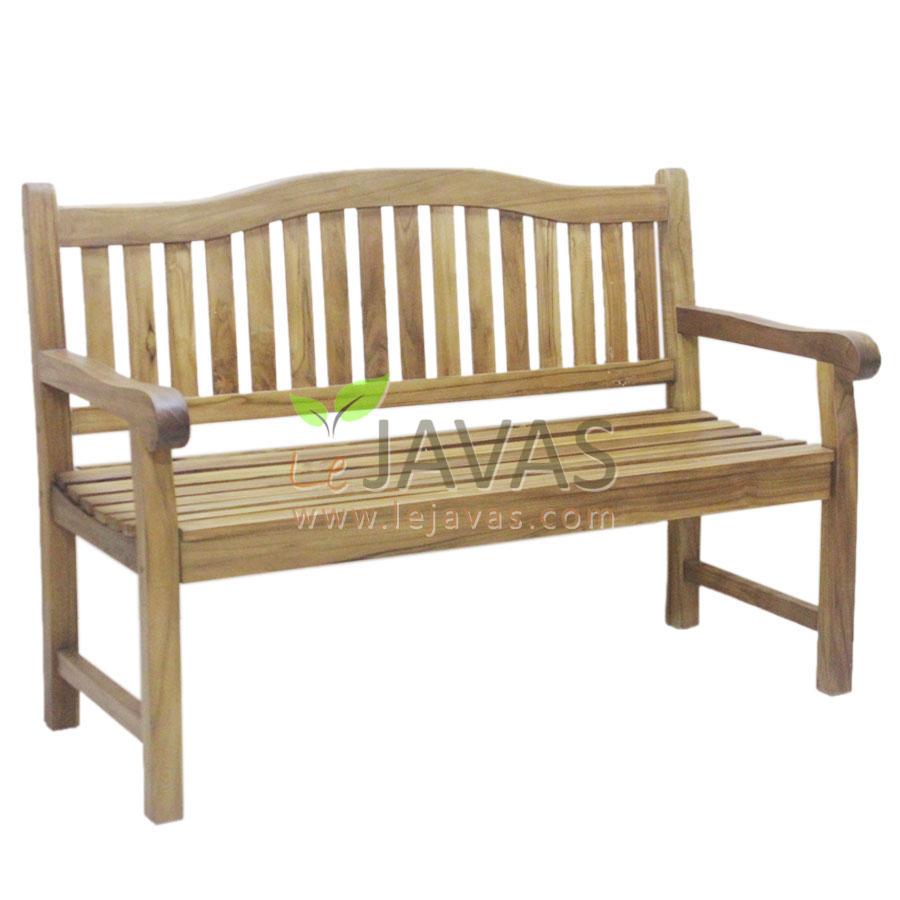 Teak Garden Curve Bench 2 Seater