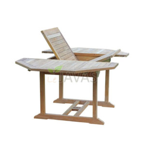 Teak Garden Outdoor Patio - Classic Octagonal Extended Table