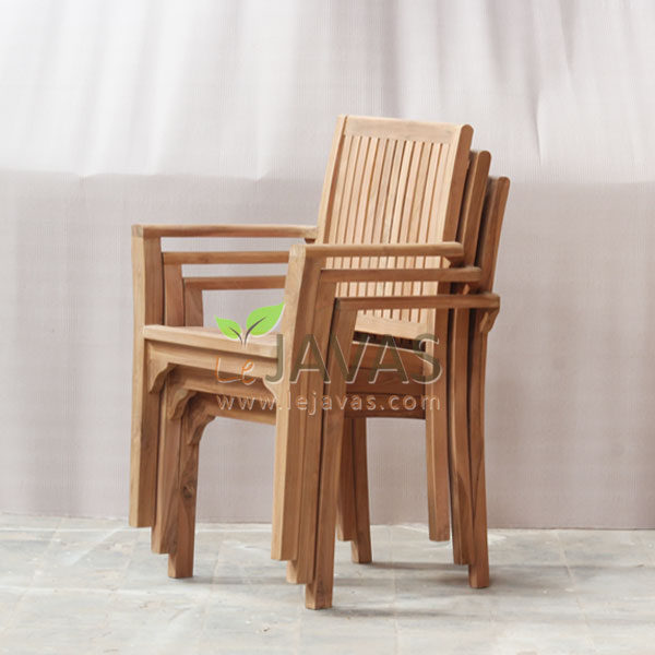 Jepara Teak Garden Asker Stacking Chair MOXC 021_3
