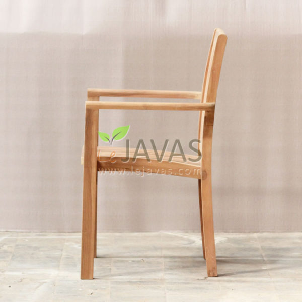 Jepara Teak Outdoor Asker Stacking Chair MOXC 021_2