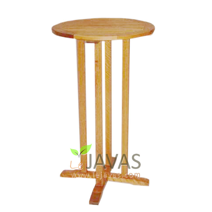 Teak garden arnoa bar round table le javas outdoor furniture for Outdoor furniture zimbabwe