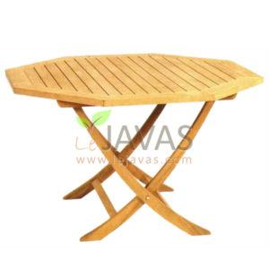 Teak Garden Classic Octagonal Folding Table MOFT 003