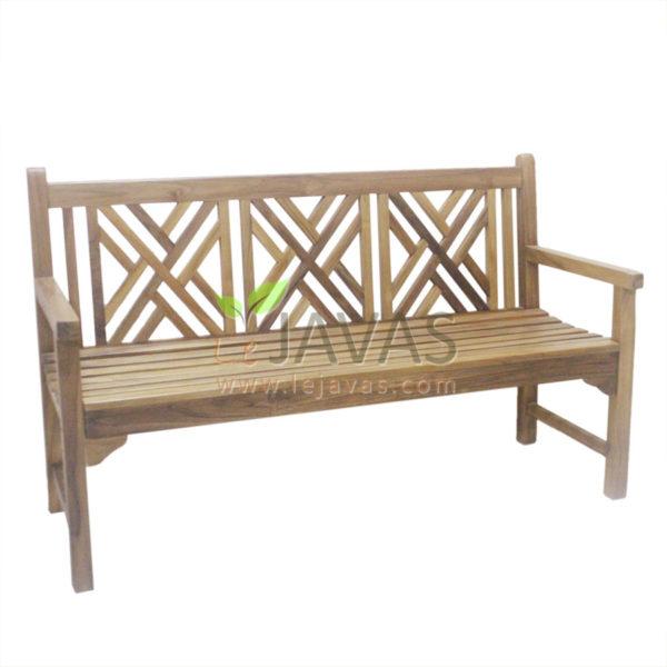 Teak Garden Cross Bench 3 Seater MOBN 021 2S