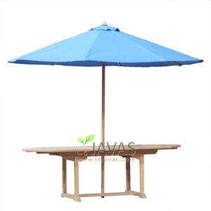 Teak Garden Oval Double Extanding Table