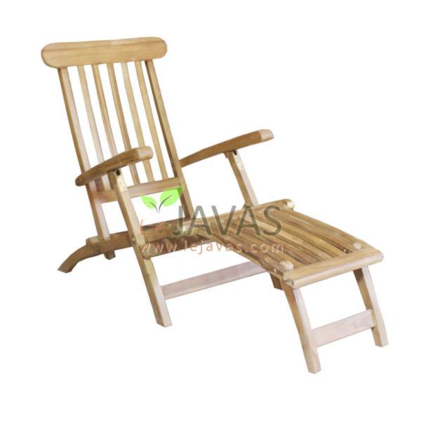 Teak Garden Steamer Chaise Lounge MOSM 002