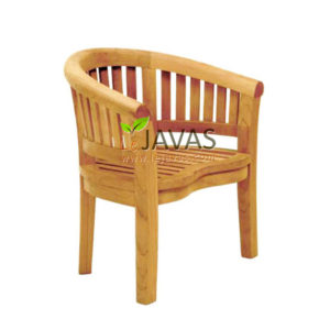 Teak Outdoor Bean Arm Chair Oval MOXC 004