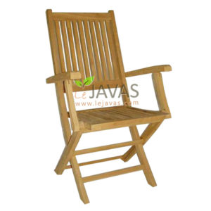 Teak Outdoor Charlotte Folding Arm Chair MOFC 010 A