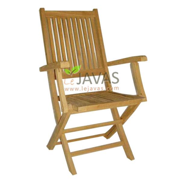 Teak Outdoor Charlotte Folding Arm Chair MOFC 010 A