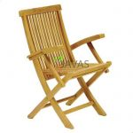 Teak Outdoor Folding Armchair Natural