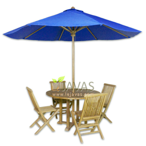 Teak Outdoor Sunrise Oval Table Umbrella MOXT 019 A