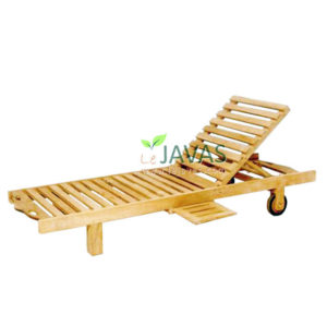 Teak Outdoor Wave Lounger MOLG 001