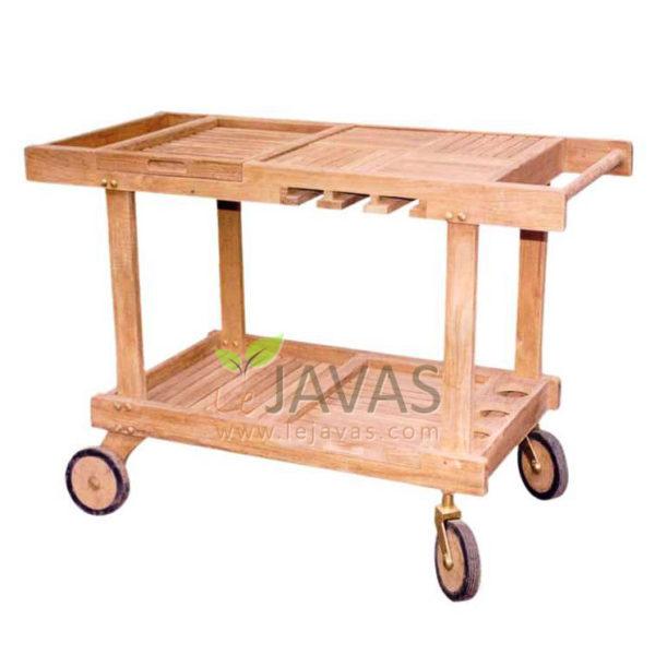 Teak Patio Classic Trolley Set MOTR 003