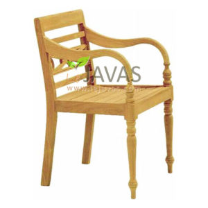 Teak Patio Raffles Arm Chair MOXC 006