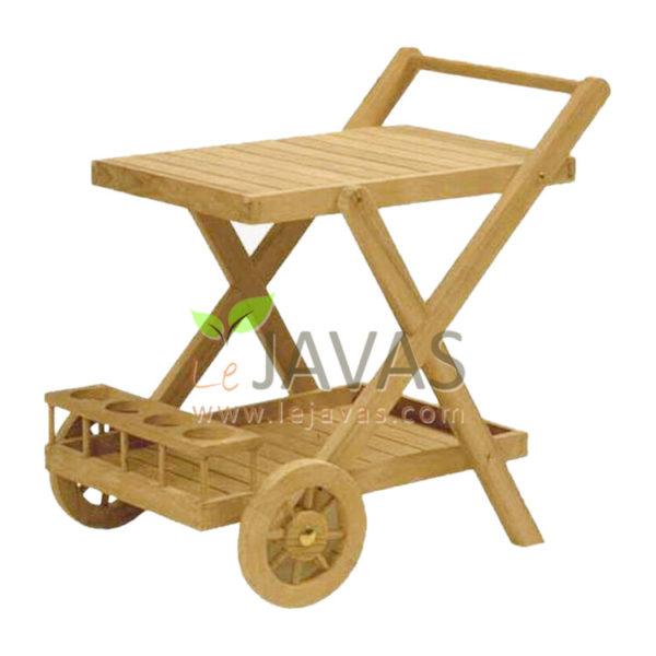 Teak Patio Temlo Tea Trolley MOTR 001