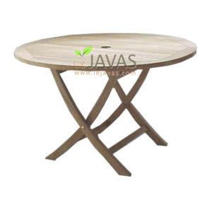 Teak Garden Classic Round Fold Table MOFT 001