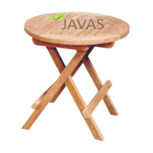 Teak Garden Mini Round Folding Table MOFT 016