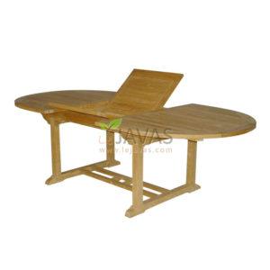 Teak Garden Ocean Oval Extended Table 180 MOET 004 W 180
