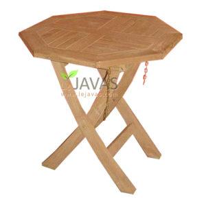 Teak Garden Round Salur Fold Table MOFT 011