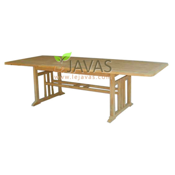 Teak Outdoor Artifac Recta Extended Table MOET 002