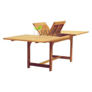 Teak Outdoor Bali Recta Extended Table MOET 001