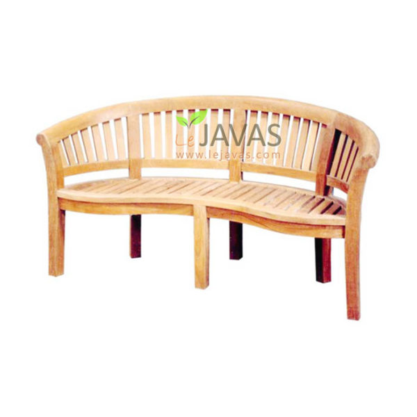 Teak Outdoor Bean Bench 2 Seater Oval MOBN 001 A 2S