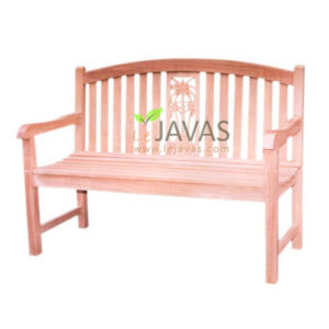 Teak Outdoor Britania Palm Bench 2 Seater MOBN 018 2S
