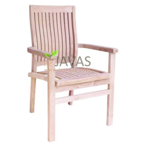 Teak Outdoor Curve Stacking Arm Chair MOXC 010 B A