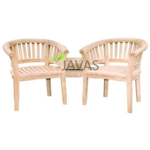 Teak Outdoor Dual Bean Arm Chair With Table MOBN 001 C
