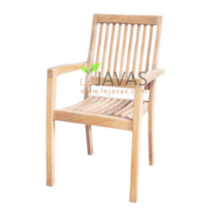 Teak Outdoor Fixed Chair (Stacking) MOXC 019