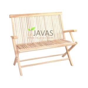 Teak Outdoor Folding Bench 2S With Arm MOFB 007 A