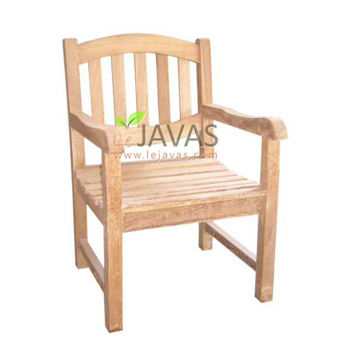 Terrific Teak Outdoor Oval Arm Chair Le Javas Garden Furniture Creativecarmelina Interior Chair Design Creativecarmelinacom