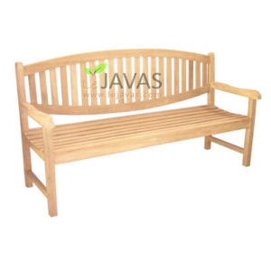 Teak Outdoor Oval Bench 3 Seater MOBN 002 3S