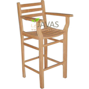 Teak Outdoor Pagah Bar Arm Chair MOXC 009