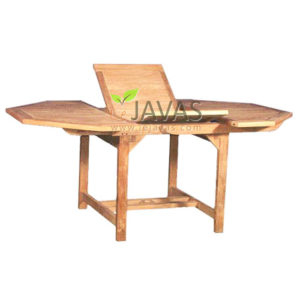 Teak Outdoor Rice Octagonal Extended Table MOET 005 W 180