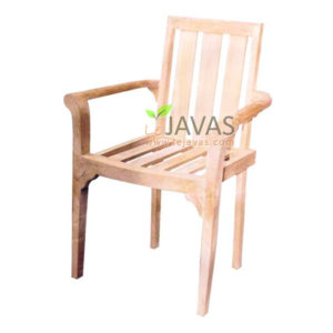 Teak Outdoor Stacking Arm Chair MOXC 010 1 A