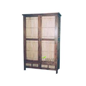 Indonesia Teak Indoor Bamboo Armoire Wholesale