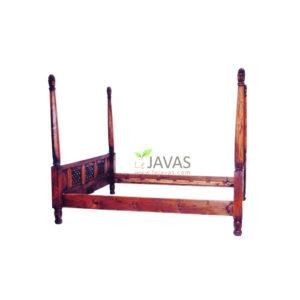 Jepara Teak Indoor 4 Poster Classic Bed
