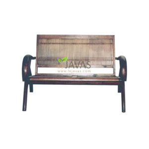 Teak Indoor Sedan Bamboo 2 Seat
