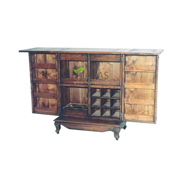 Teak Indoor Mini Bar Cabinet
