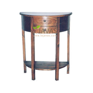 Teak Indoor Console Table 2 Drawer