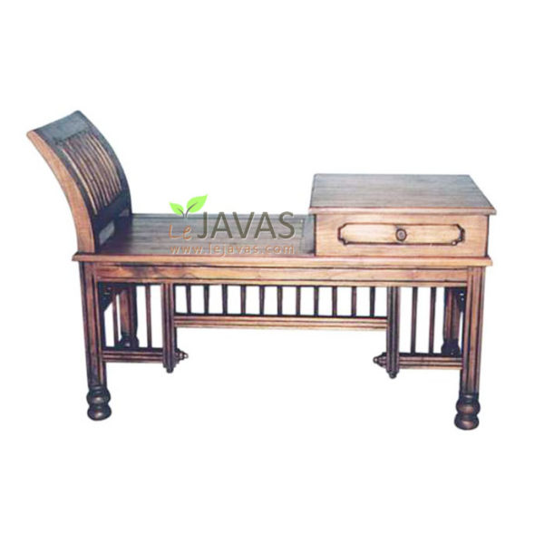 Teak Indoor King Phone Sofa