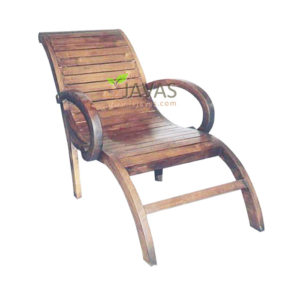 Teak Indoor Small Lounger Chair