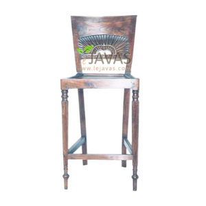 Teak Indoor Matahari Bar Stool