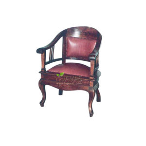 Teak Indoor Betawi Chair W/Leather MAC 006