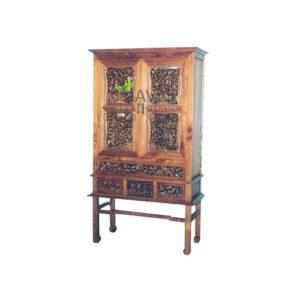 Teak Indoor Hard Carving Cabinet MCB 005